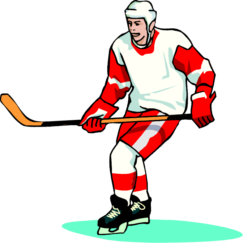786x786 Free Hockey Player Wearing A White And Red Jersey Vector Art Clip
