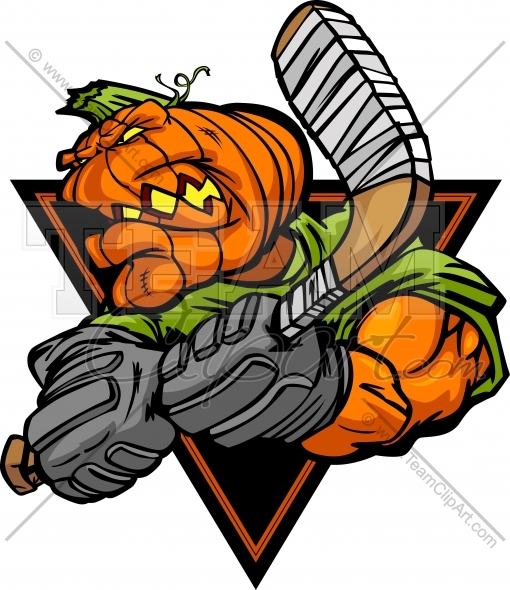 510x590 Halloween Hockey Clipart Image. Easy To Edit Vector Format.