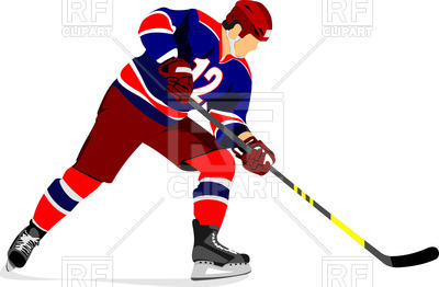 400x262 Ice Hockey Player Royalty Free Vector Clip Art Image