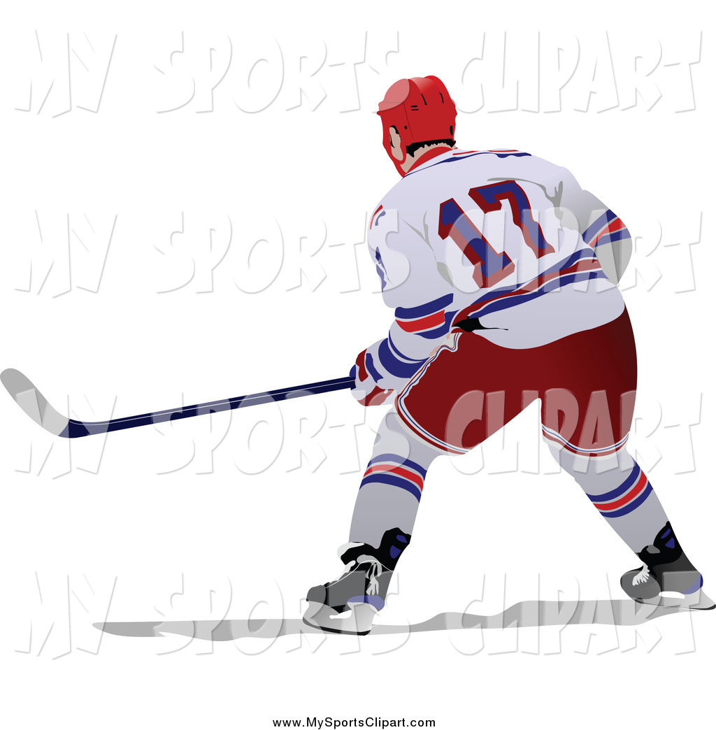 1024x1044 Sports Clip Art Of A Hockey Player From Behind By Leonid