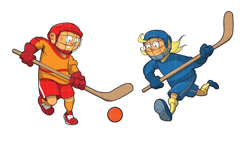 825x495 Road Hockey Clipart