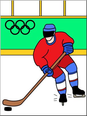 304x404 Clip Art Winter Olympics Ice Hockey Color I Abcteach