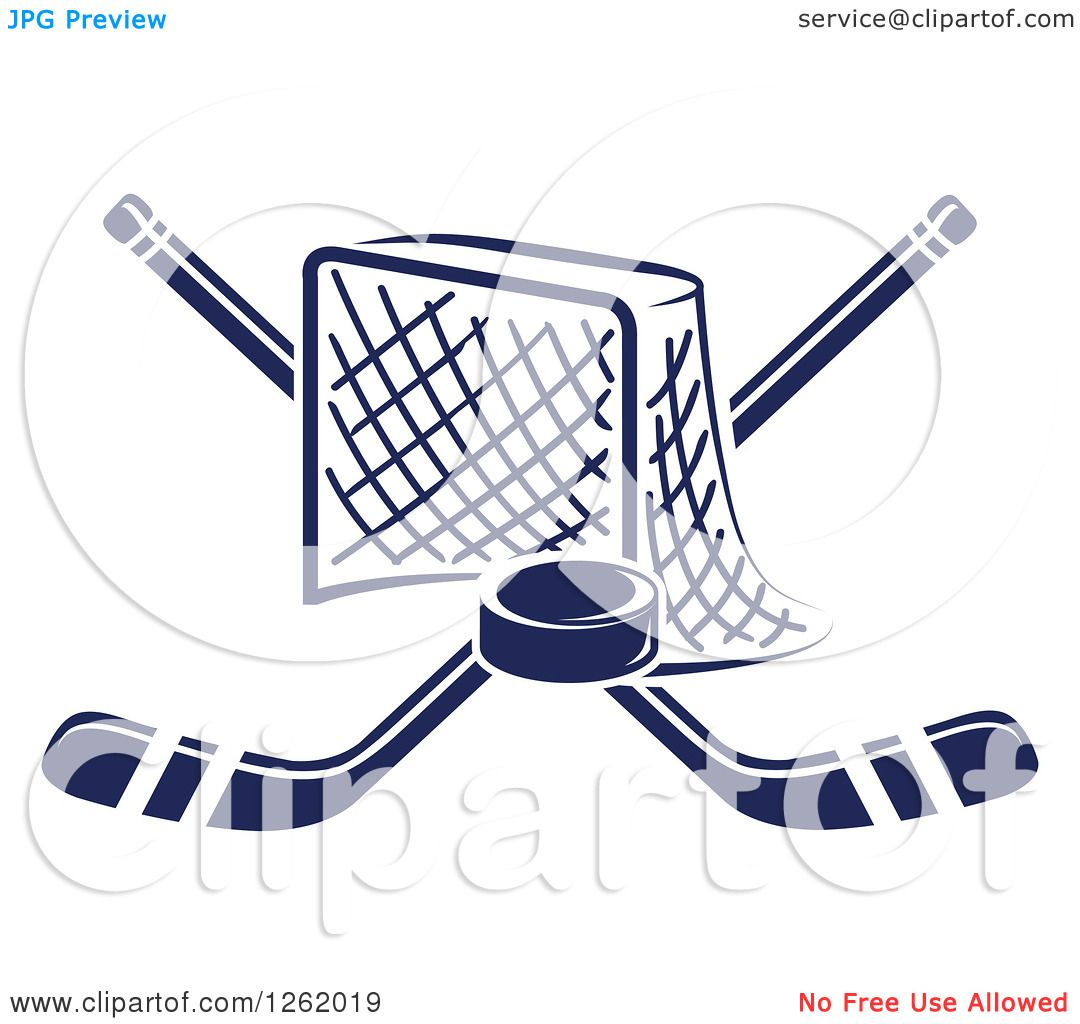 1080x1024 Clipart Of A Hockey Goal Net With Crossed Sticks And A Puck