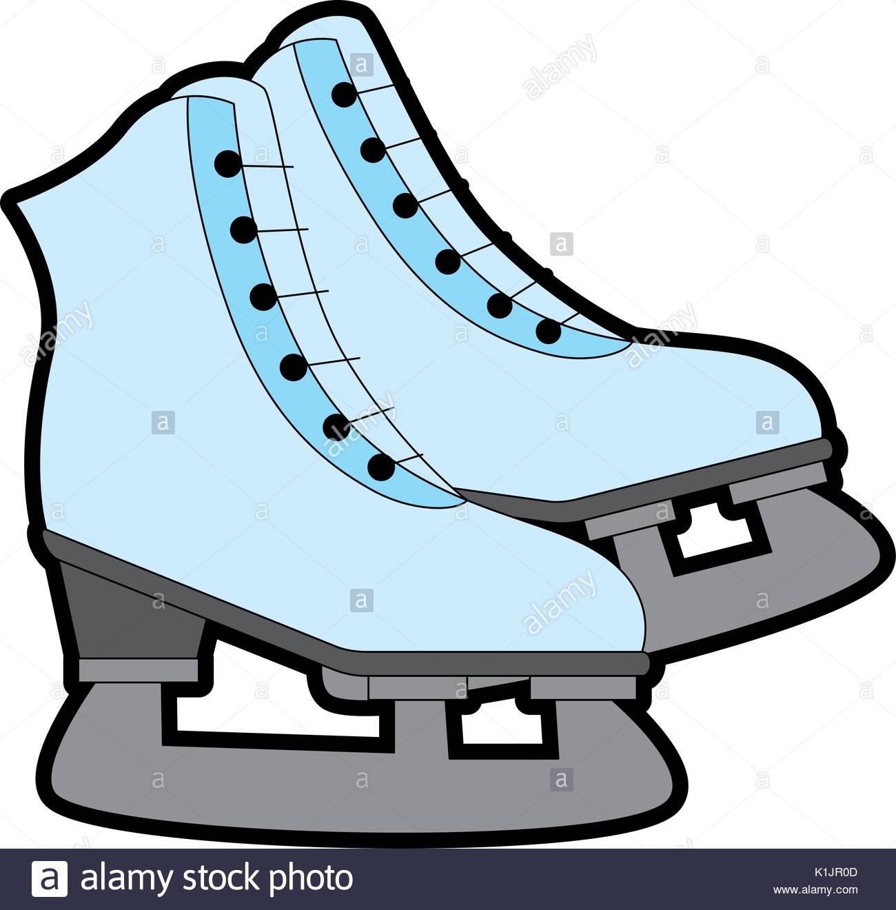 1300x1320 Ice Skates Icon Over White Background Vector Illustration Stock