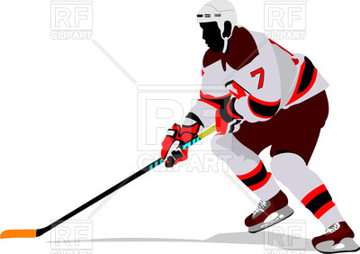 400x282 Silhouette Of Ice Hockey Player On Attack