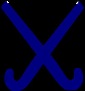 282x300 Hockey Sticks Blue Clip Art