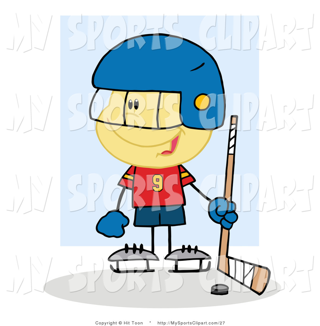 1024x1044 Sports Clip Art Of A Hockey Goalie Caucasian Boy With A Puck