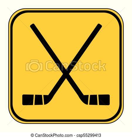 450x470 Two Crossed Hockey Sticks Icon. Two Crossed Hockey Sticks