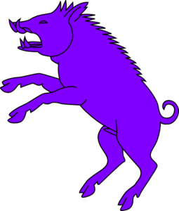 255x300 Boar Purple Clip Art Logo Clip Art And Logos
