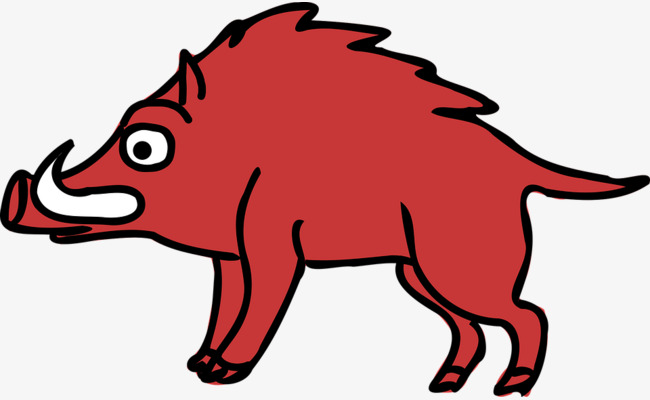 650x400 Cartoon Wild Boar, Pig, Cartoon, Red Png Image And Clipart