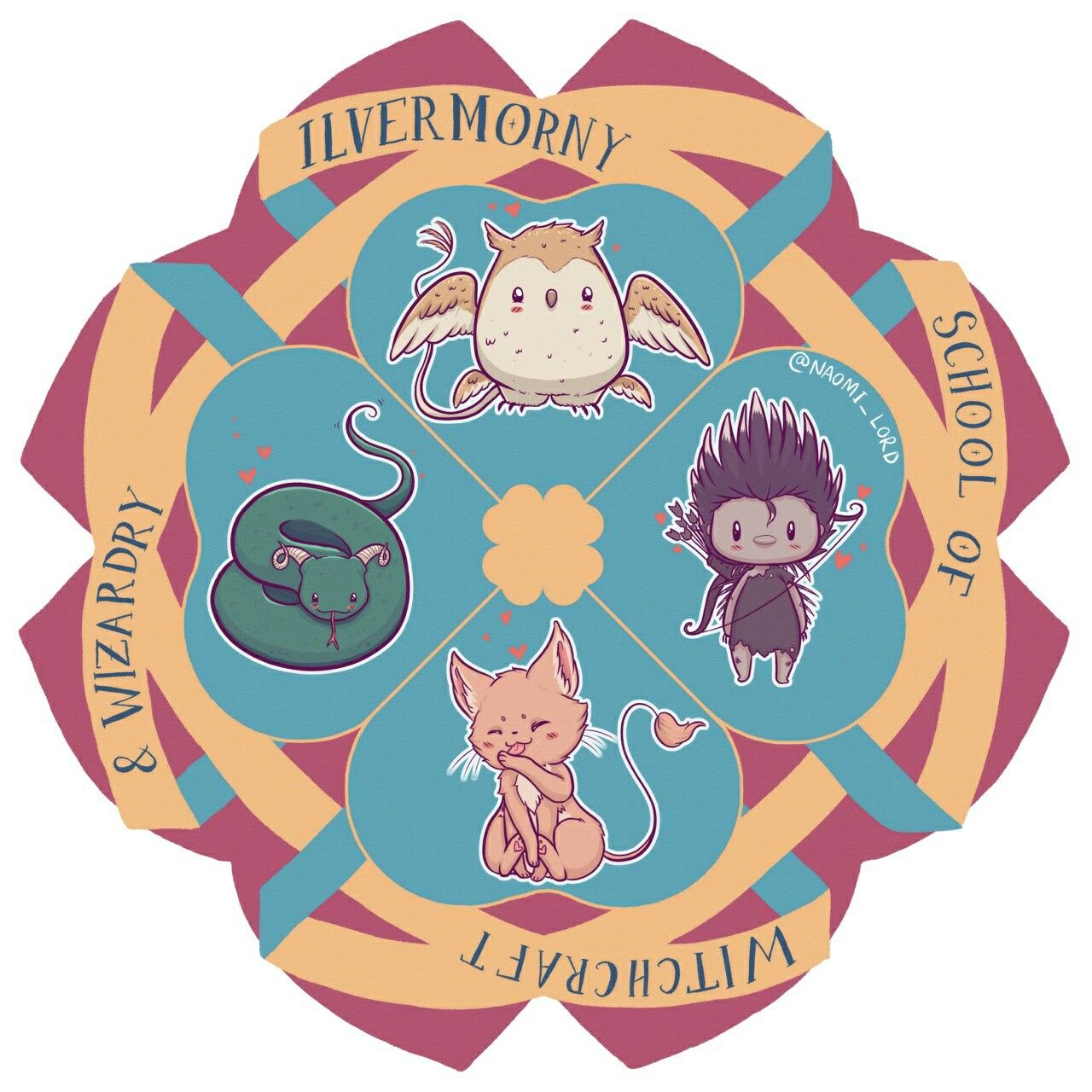1280x1280 Ilvermorny Harry Potter Ilvermorny, Harry Potter