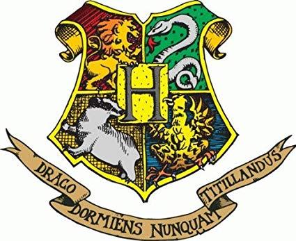 425x347 Harry Potter Hogwarts Crest Cartoon Car Bumper Sticker