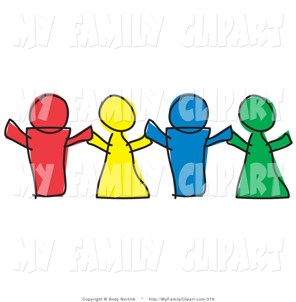 1024x1044 Clip Art Of A Red, Yellow, Blue And Green Paper People Dolls