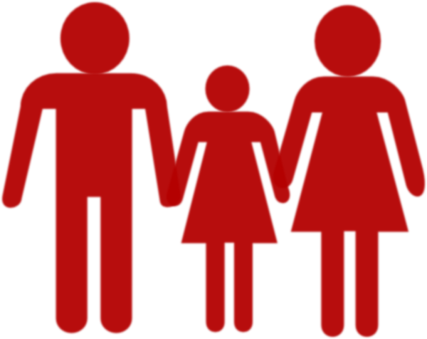 600x476 Family Holding Hands Red Clip Art