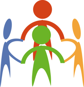 288x299 People Holding Hands In A Circle Clip Art