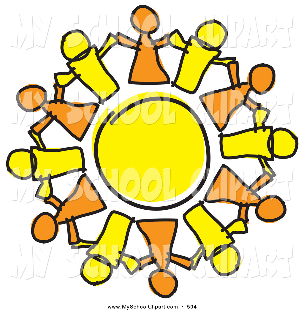 1024x1044 Clip Art Of A Circle Of Orange And Yellow People Holding Hands