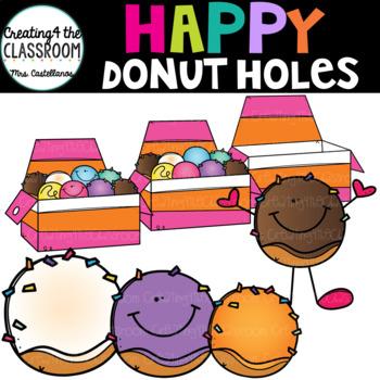 350x350 Happy Donut Holes Clip Art {Donut Clip Art} By Creating4 The Classroom
