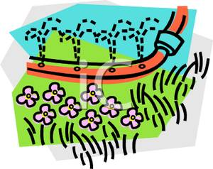 300x238 Holes In A Garden Hose To Water Flowers Clip Art Image
