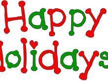 220x165 Free Happy Holidays Clip Art Diy Greeting Cards For Holidays