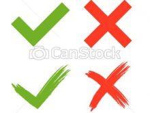220x165 Clipart Tick Cross Tick Cross Clipart Free Images