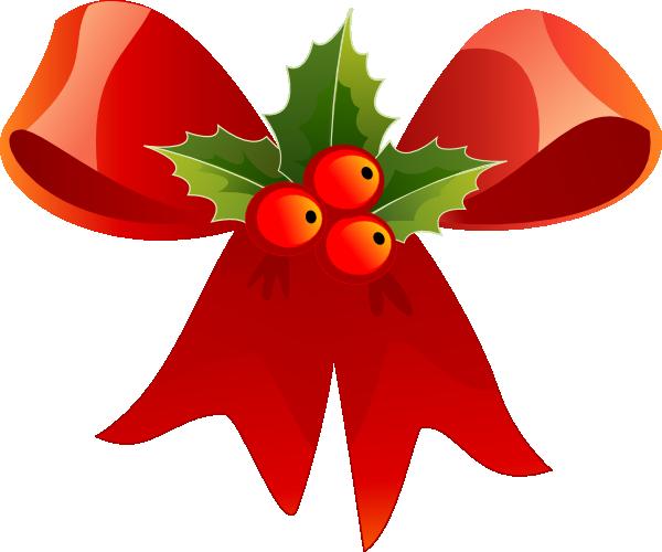 600x500 Christmas Holly Clipart Christmas Bow With Holly Clip Art