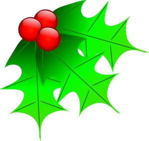 300x284 Holly Leaf Clip Art Holly Leaves Clip Art Images Holly Leaves