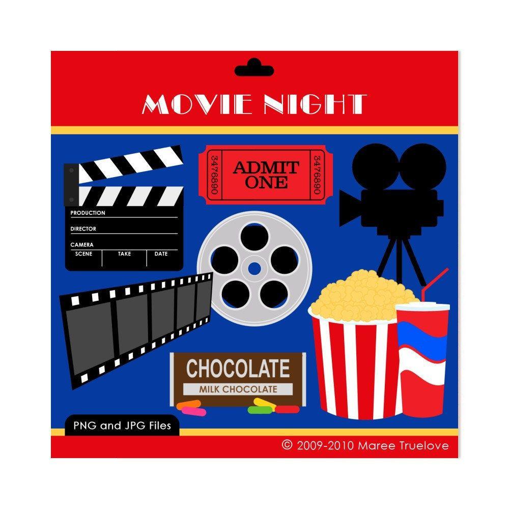 1000x1000 Movie Night Clipart