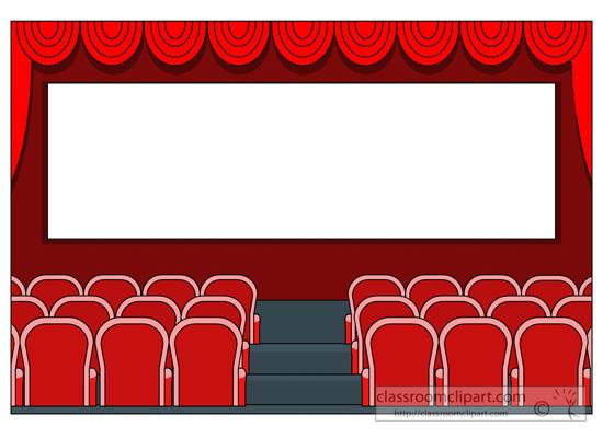550x400 Chic Design Movie Theatre Clipart
