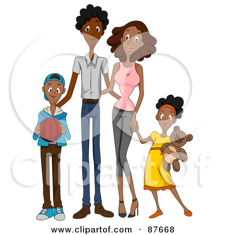 450x470 African American Family Clipart