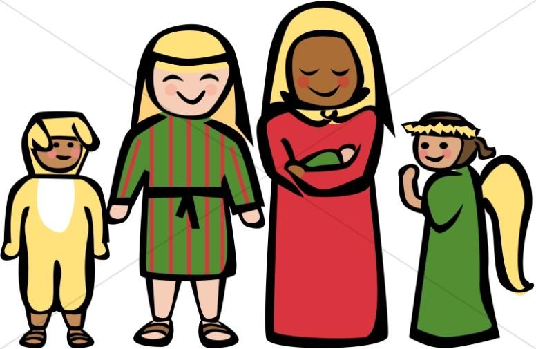 776x505 Cartoon Style Holy Family Clipart Nativity Clipart