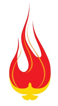 200x363 Holy Spirit Flame Clipart
