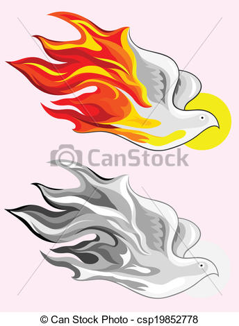 344x470 Holy Spirit Fire Art Vector Picture Vectors Illustration