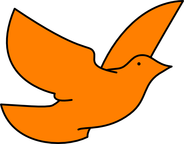 600x470 Orange Dove Clip Art