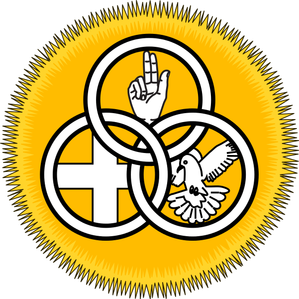601x600 Filesociety Of Our Lady Of The Most Holy Trinity Badge.svg