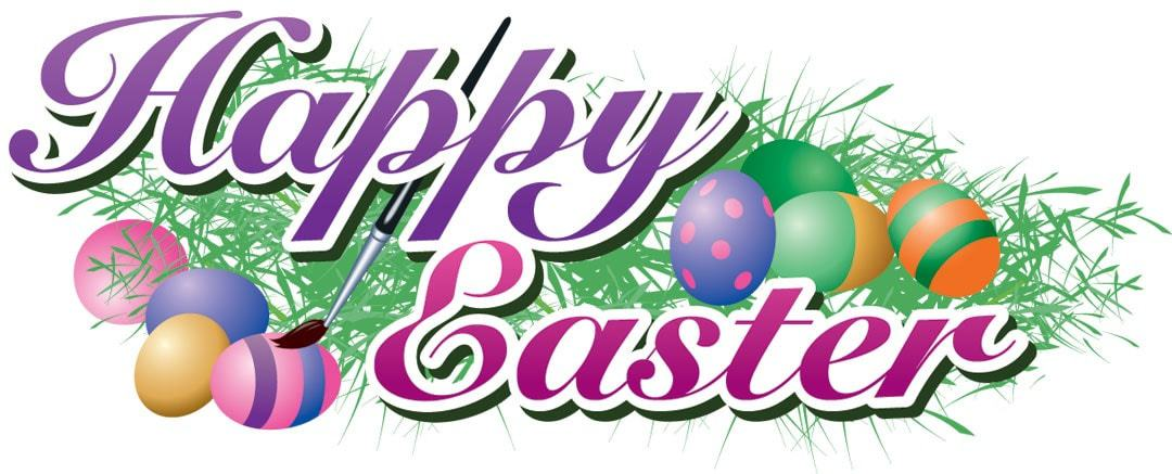 1080x437 Happy Easter Clip Art 2018 For Kids