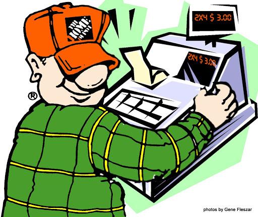 512x432 Home Depot Cashier Clipart