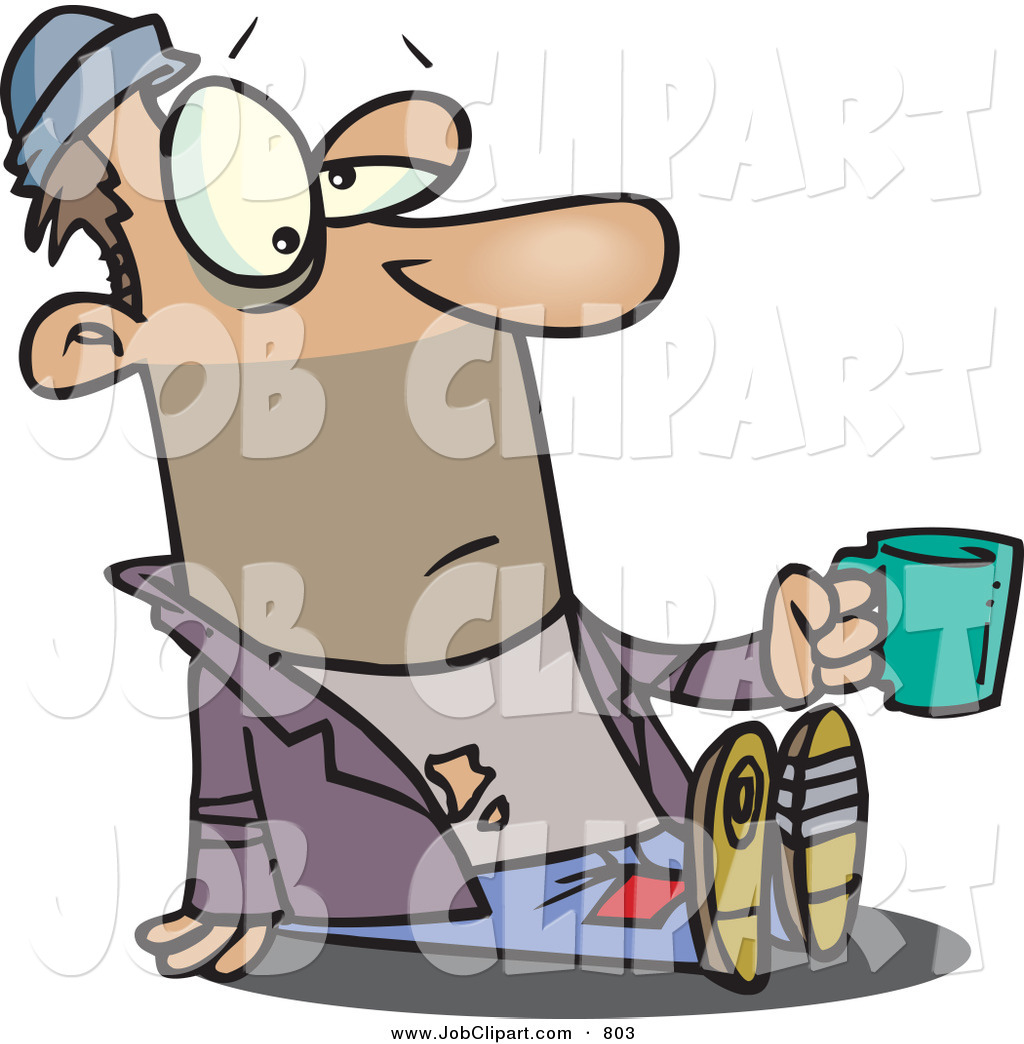 1024x1044 Job Clip Art Of A Homeless And Scruffy Beggar Man Sitting On