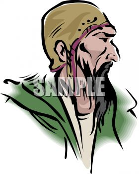 280x350 Royalty Free Clip Art Image Old Poor Homeless Man