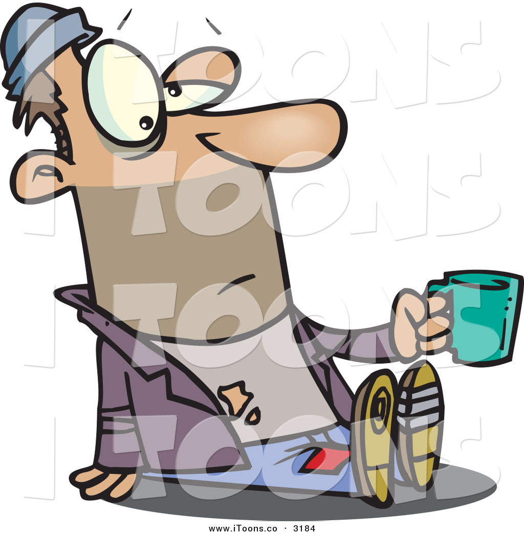 1024x1044 Vector Clip Art Of A Caucasian Homeless Beggar Person Sitting