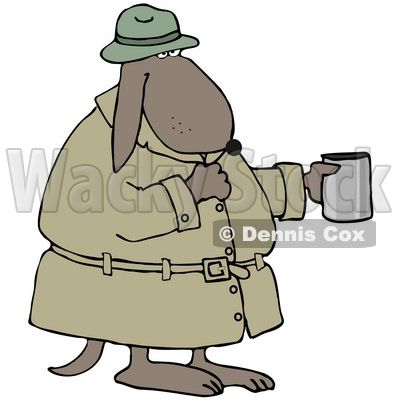 400x400 Clipart Illustration Of A Homeless Caucasian Man Eating Beans Out
