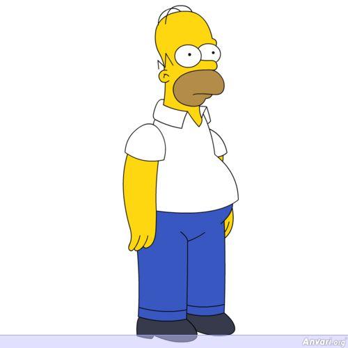 500x500 Life Sized Homer Simpson