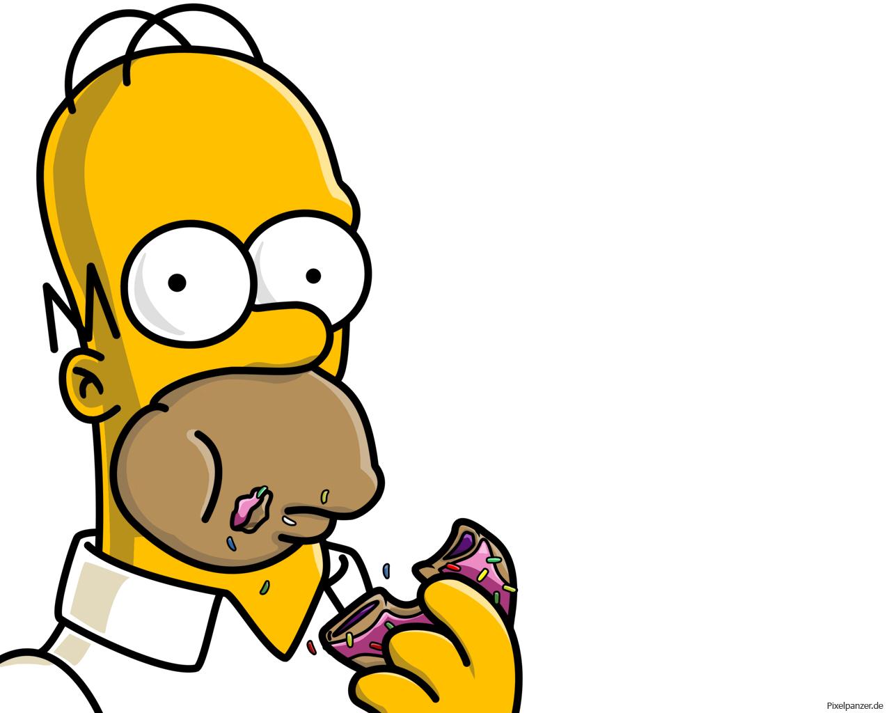 1280x1024 Doughnut Clipart Homer Simpson
