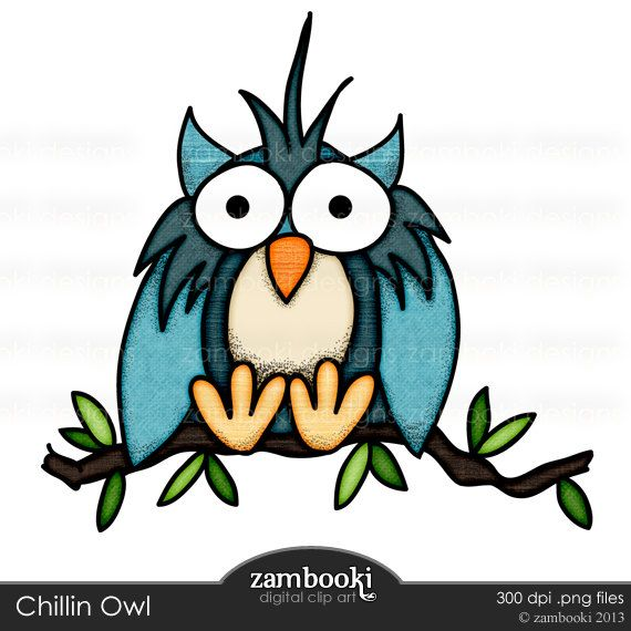 570x570 INSTANT DOWNLOAD Owl clip art doodles digital stamps by zambooki