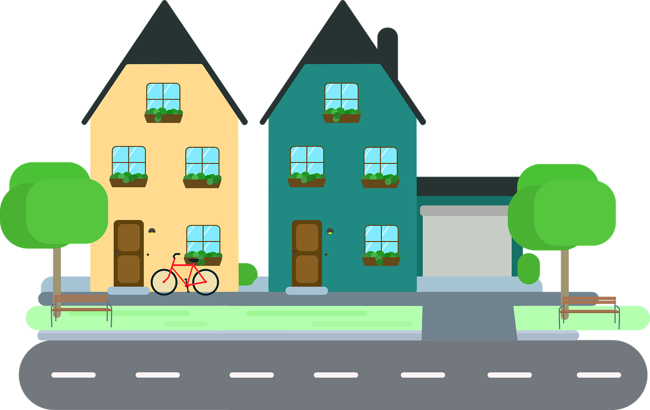 1280x808 Sensational Design Neighborhood Clipart House Clip Art Town