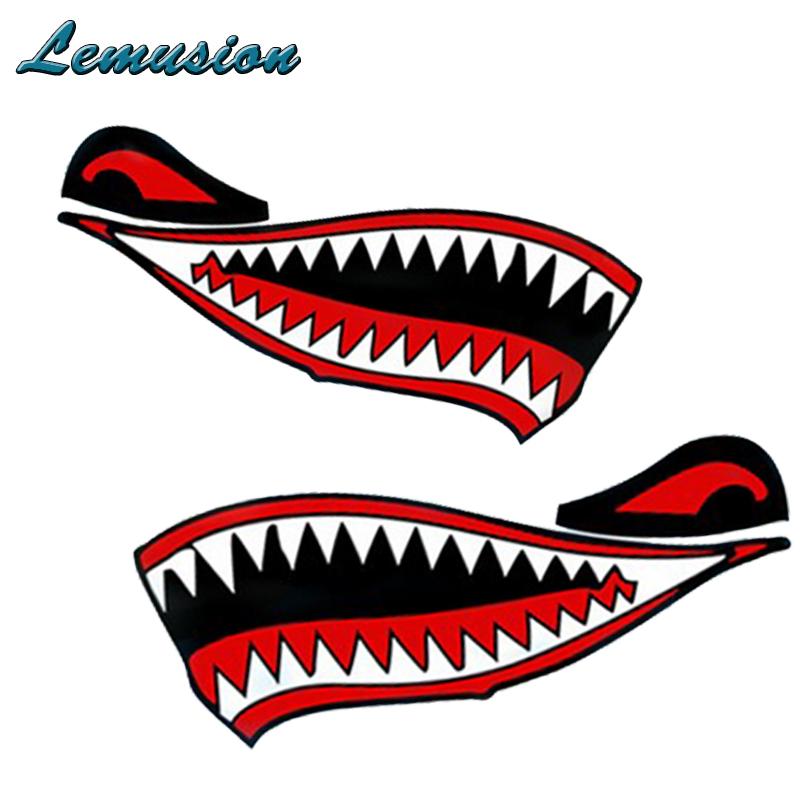 800x800 Car Styling 1pcs Car Stickers Car Body Shark Mouth Waterproof