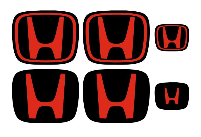 687x471 Honda Civic Type R Gel Badges