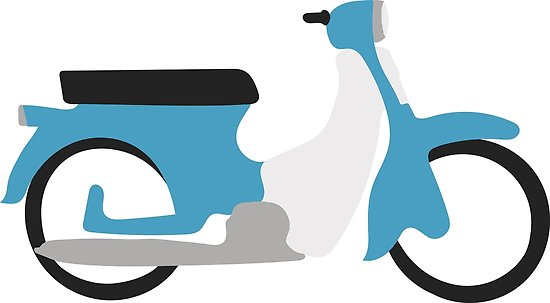 550x303 Honda C50 Blue Posters By Viktorb Redbubble