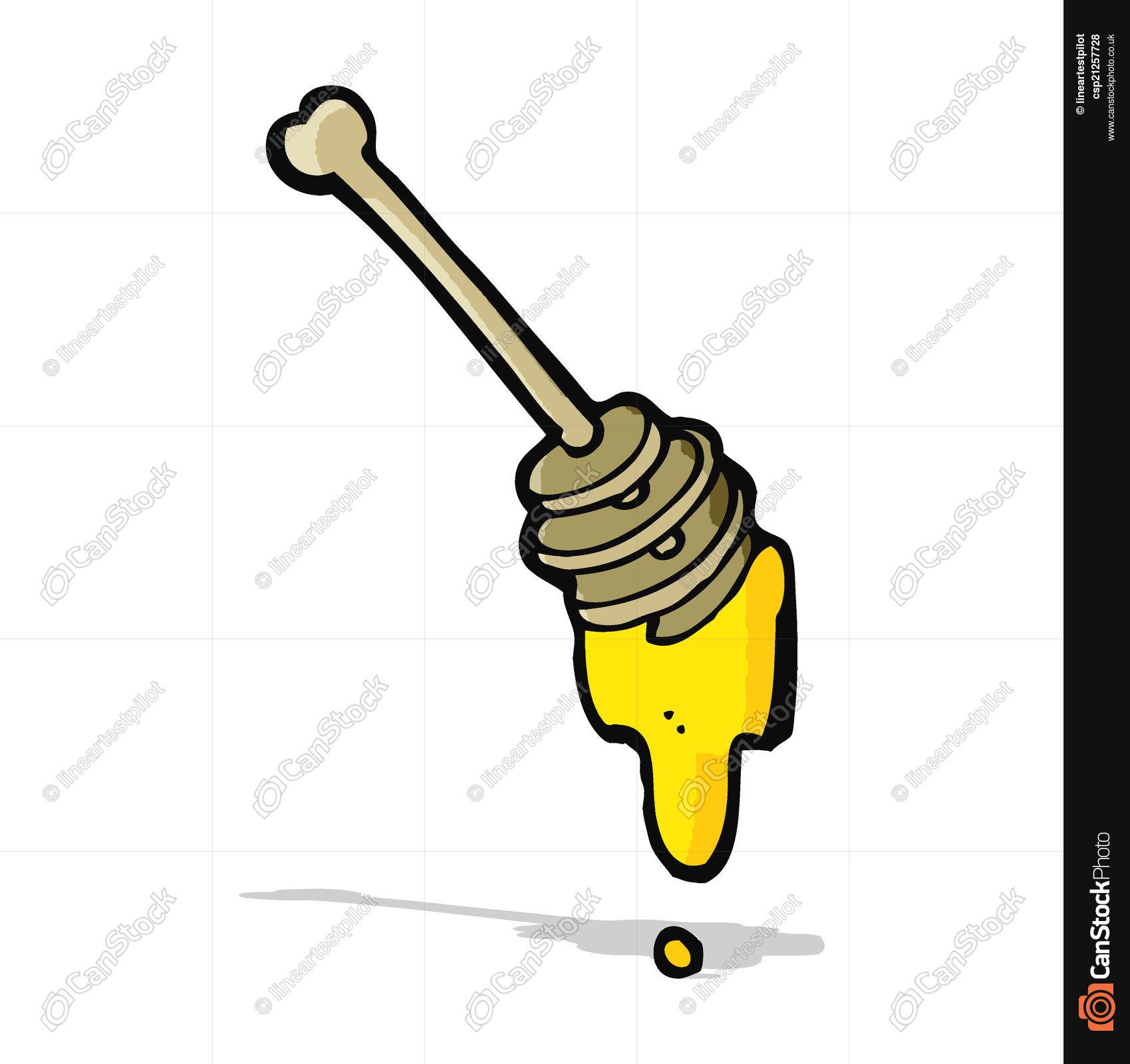 1699x1600 Cartoon Honey Vector Illustration