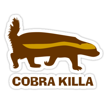 375x360 Honey Badger Cobra Killa Stickers By Guert Redbubble