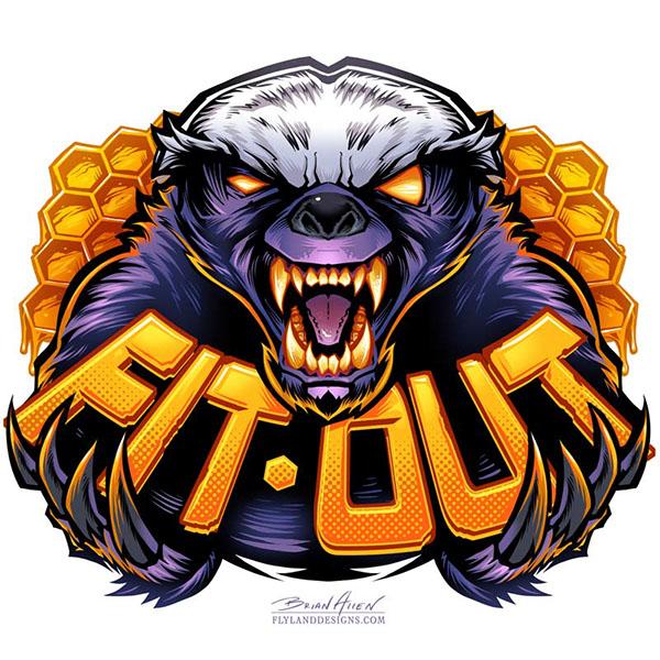 600x600 Honey Badger Logo On Behance